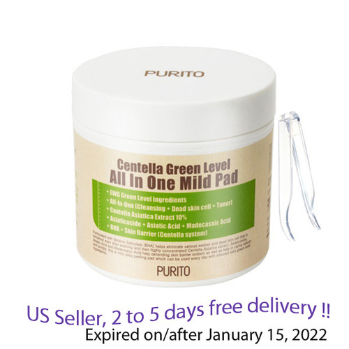 PURITO Centella Green Level All in One Mild Pad 70 Pads + Free Gift Sample !!