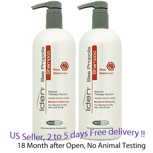 Iden Bee Balanced Shampoo 32 oz x 2 units for Normal to Oily
