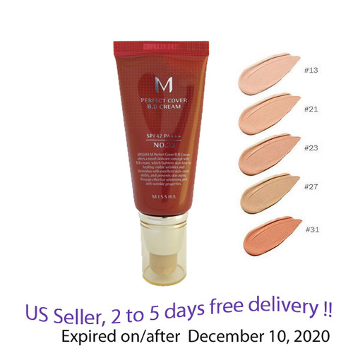 MISSHA M Perfect Cover BB Cream #23 50ml SPF42 PA+++, + Free Gift Sample !!
