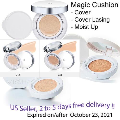 Missha M Magic Cushion Cover, Cover lasting, Moist Up  SPF50+ PA+++ #21, #23
