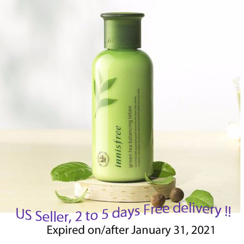 Innisfree Green Tea Balancing Lotion 160ml  + Free Gift Sample !!
