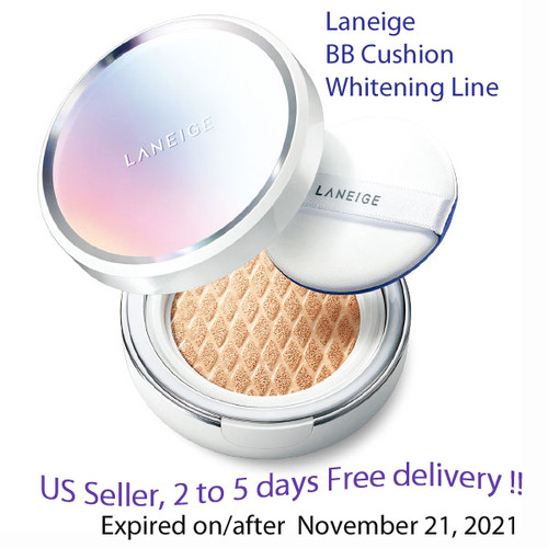 Laneige BB Cushion whitening NO13, No21, NO23 Option + Free Sample !!