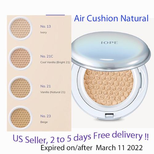 IOPE Air Cushion Natural SPF50+/PA+++15g x 2, (4 shades option)