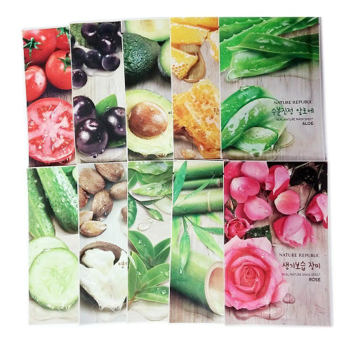 Nature Republic Real Nature Mask Sheet 10pcs