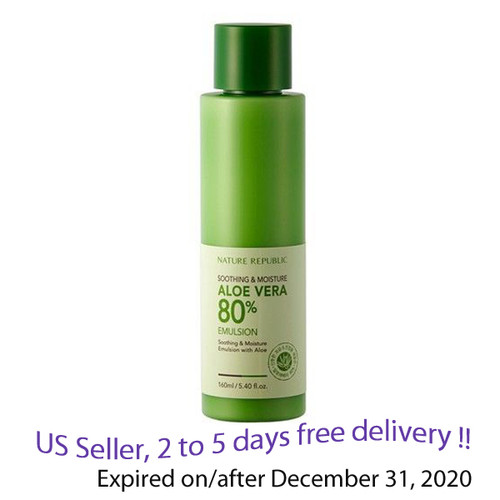Nature Republic Soothing Aloe Emulsion 160ml + Free Gift Sample !!