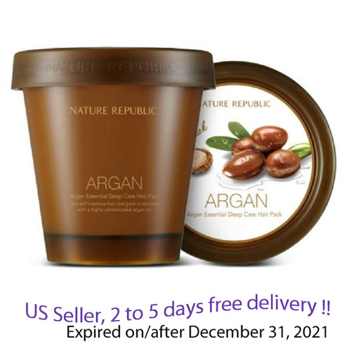 Nature Republic Argan Essential Deep Care Hair Pack 200ml + Free Gift Sample !!