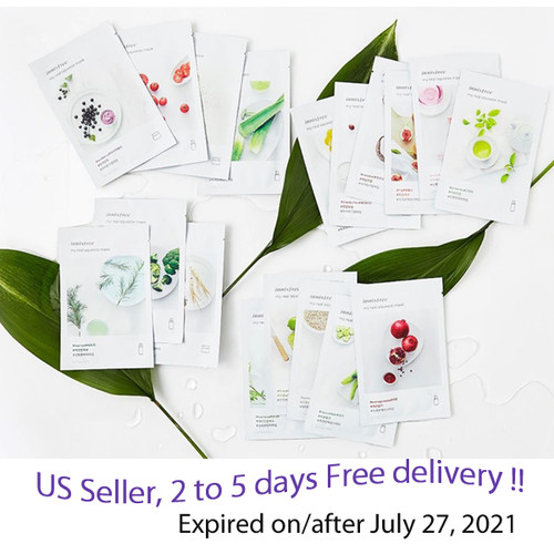 Innisfree My Real Squeeze Mask Sheet x 15 sheets  + Free Gift Sample !!