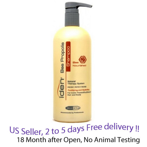 Iden bee propolis Nourished Shampoo 32 oz,  1 Unit for dry, damaged, colored