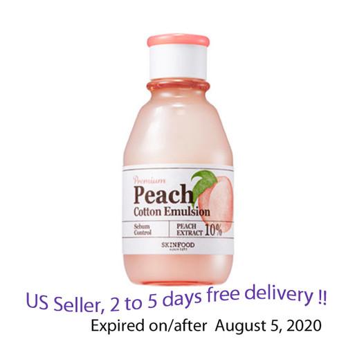 SKINFOOD Premium Peach Cotton Emulsion 160ml + Free Gift Sample !!