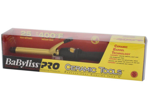 "Babyliss PRO Ceramic Tools 3/4"" Dual Voltage Spring Curling Iron, CT75S"