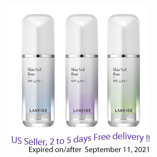 Laneige Skin Veil Base SPF 25 PA++ 30 ml, No 40, No 60 option + Free Sample !!