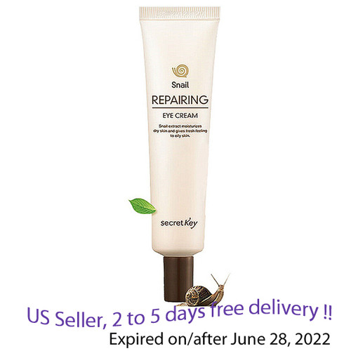 Secret key Snail Repairing  Eye Cream 30 g + Free Sample !!
