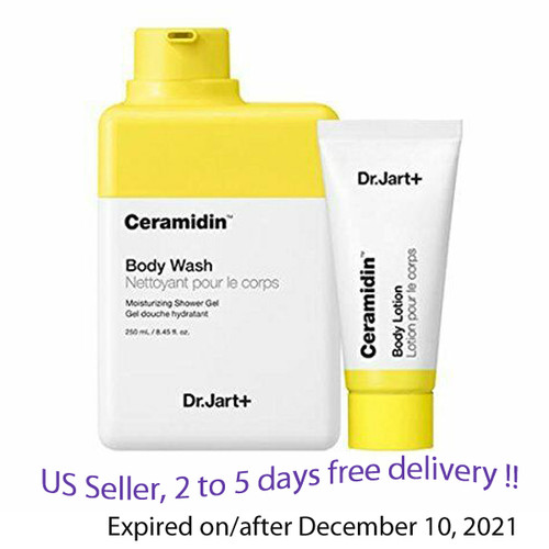 Dr.Jart+  Ceramidin Body Wash 250ml+ Body Loton 30ml + Free Sample !!