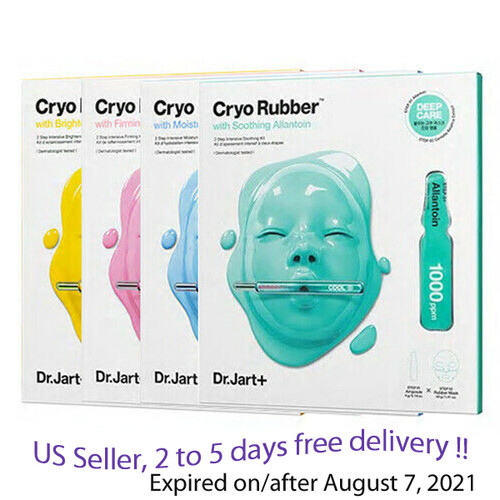Dr.Jart Cryo Rubber 2 Step Mask ( Ampoule 4g + Mask 40g)  4 kinds + Free Sample !!