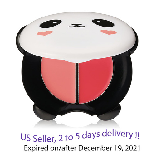 TONYMOLY Panda's Dream Dual Lip & Cheek 1.7g 2 options,  #1 Bubble Red, #2 Pink Beige