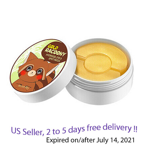 SECRET KEY Gold Raccoony Hydro Gel Eye & Spot Patch 90 ea+ Free Sample !!