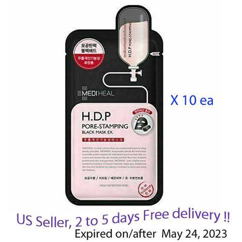 Mediheal H.D.P Pore Stamping Black Mask EX * 10 ea + Sample !!