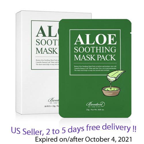 Benton Aloe Soothing Mask Pack 10 Sheets  + FREE SAMPLE !!