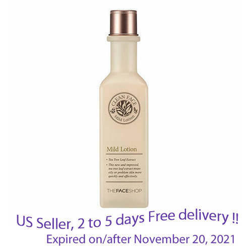 The Face Shop Clean Face Mild Lotion 130ml + Free Gift Sample !!