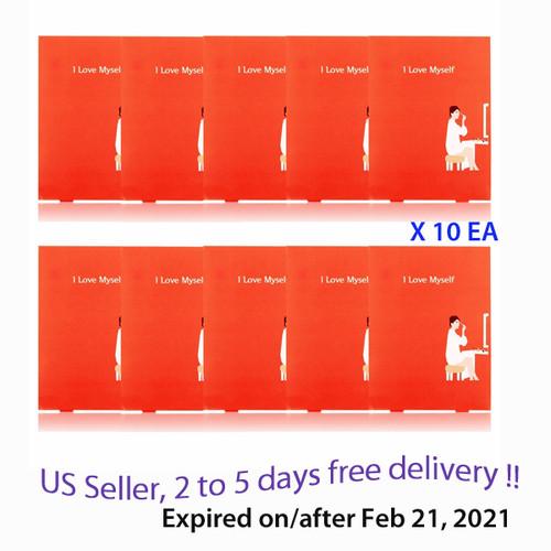 Package I Love Myself Sheet Mask * 10 EA + Free Gift Sample !! Expire Feb21, 2021