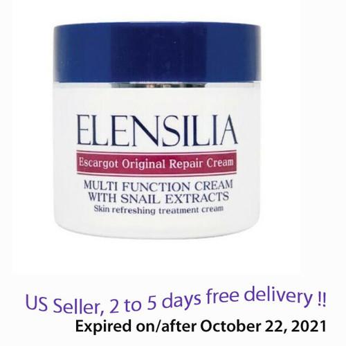 Elensilia Escargot Original Repair Cream with Snail Extracts 50g + Free Gift Sample !!