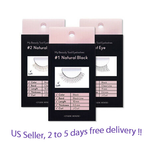 Etude House My Beauty Tool Eyelashes  2EA * 6 kinds option + Free Sample !!