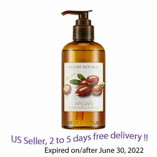 Nature Republic Argan Essential Deep Care Shampoo 300ml + Free Gift Sample !!