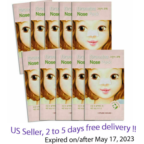 Etude house Green Tea Nose Pack * 10 patches