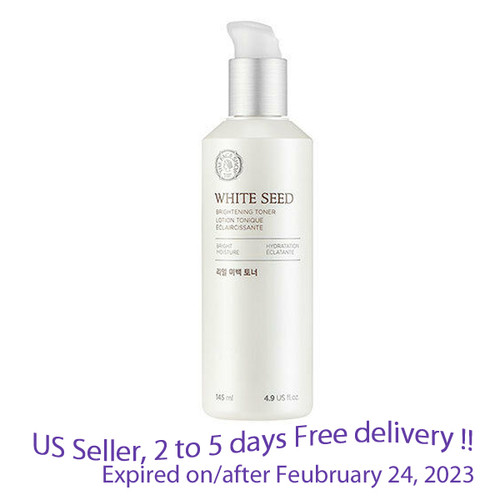 The Face Shop White Seed Brightening Toner 160 ml + Free Gift Sample !!