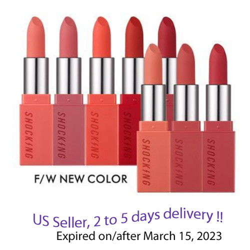 TONYMOLY The Shocking Lipstick Velvet 3.5g  5 colors Option + Free Gift Sample !!