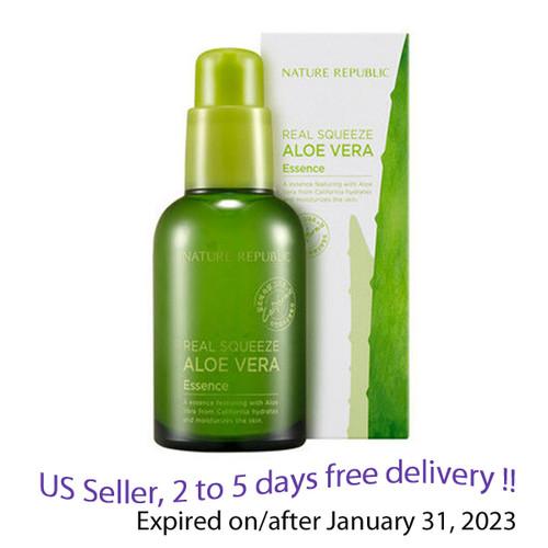 Nature Republic Real Sqeeze Aloe Vera Essence 50ml + Gift Sample !!