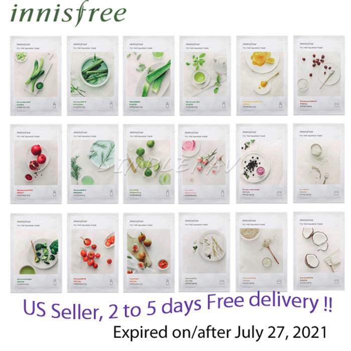 Innisfree It's Real Facial Mask Sheet x 18 sheets  + Free Gift Sample !!