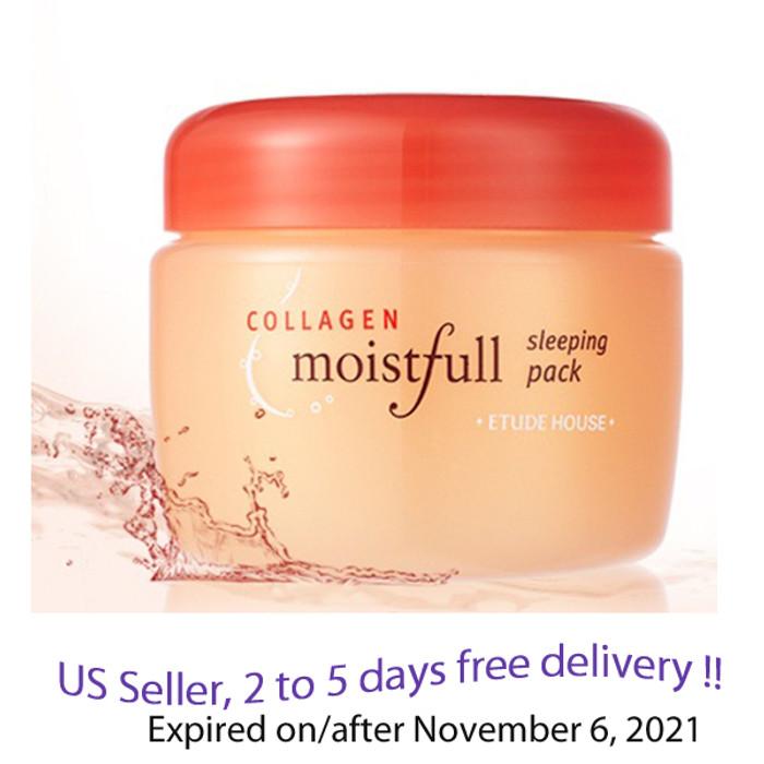 Etude House Moistfull Collagen Sleeping Pack 100 ml  + Free Gift Sample !!