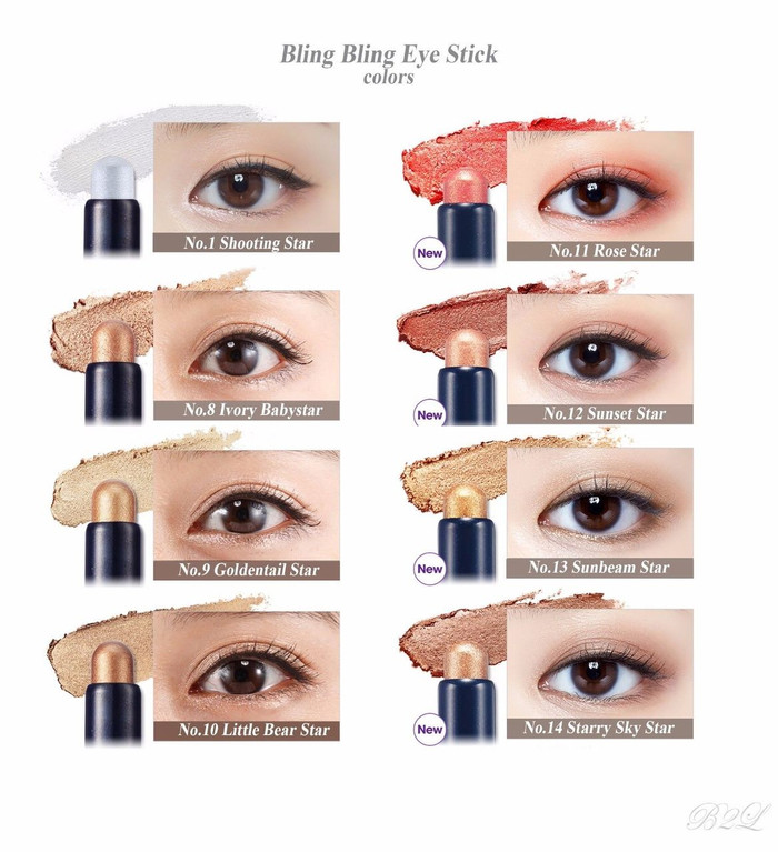 ETUDE HOUSE Bling Bling Eye Stick 1.4 g (12 colors option)