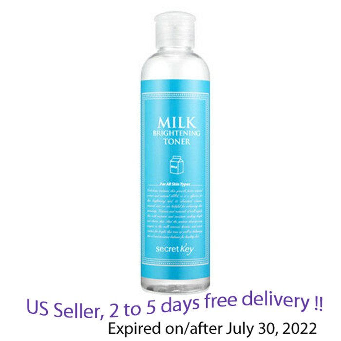 SECRET KEY Milk Brightening Toner 248ml + Free Sample !!