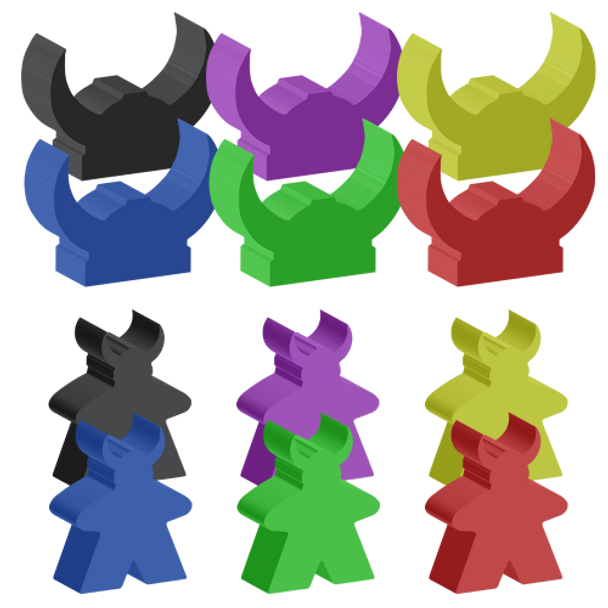 Champions of Midgard Viking Meeples