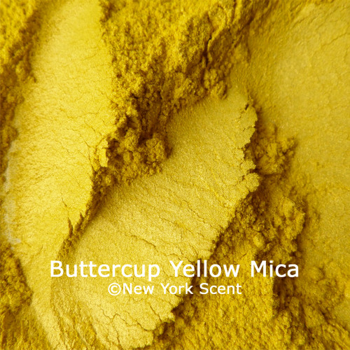 Buttercup Yellow mica powder colorant from New York Scent