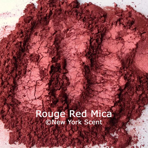 Rouge Red cosmetic mica powder colorant from New York Scent