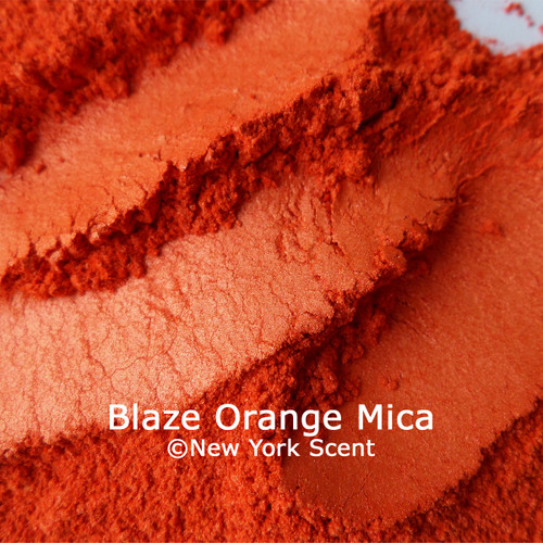 Blaze Orange Mica Powder Colorant from New York Scent