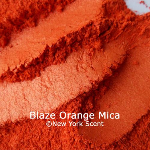 Blaze Orange Mica Powder Colorant from New York Scent
