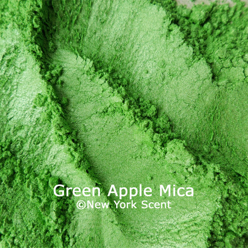 Green Apple mica powder colorant from New York Scent