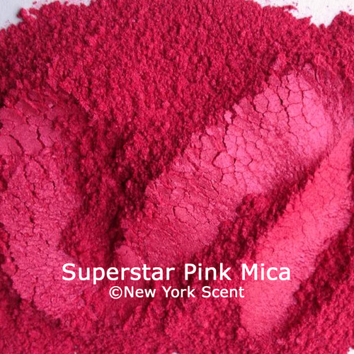 Superstar Pink mica powder cosmetic colorant from New York Scent