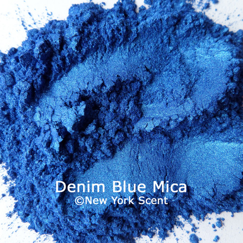 Denim Blue mica powder colorant from New York Scent