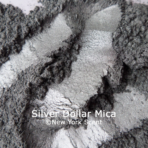 Silver Dollar mica powder colorant from New York Scent