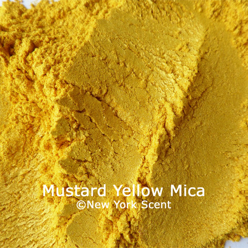 Mustard Yellow Mica Powder Colorant from New York Scent