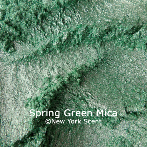Spring Green mica powder color from New York Scent