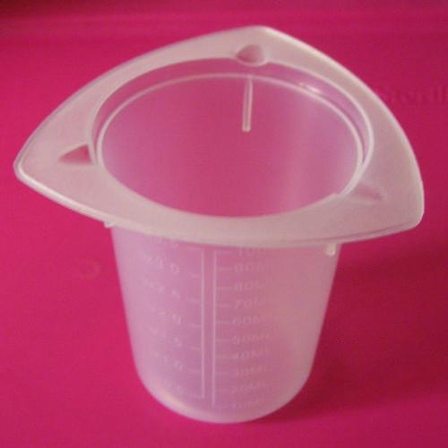 Tri-Corner Plastic Beaker, 100 ml / 3 oz