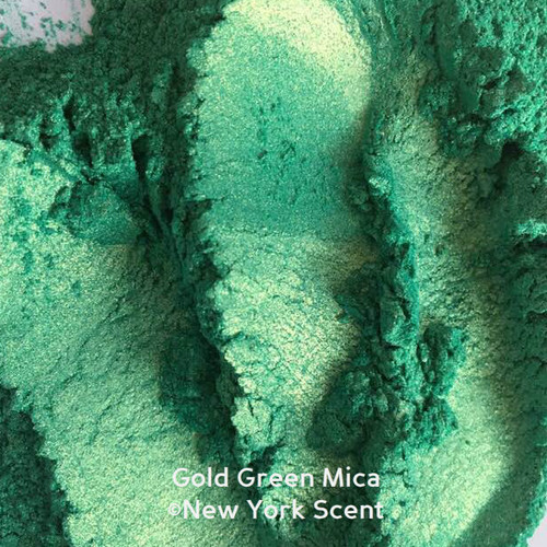 Gold Green Mica Powder - Soap Color from New York Scent