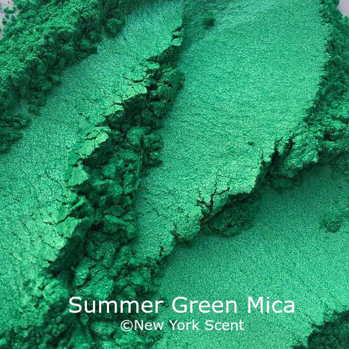 Summer Green Mica Powder - Soap Colorant from New York Scent