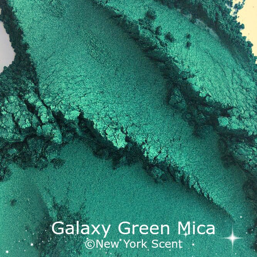 Galaxy Green Mica Powder - Soap Colorant from New York Scent